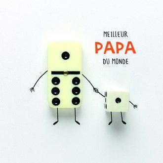 PICKMOTION - Carte Meilleur Papa Domino 12cm