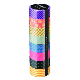 Set de 8 masking tape différents motifs 15mmx10m