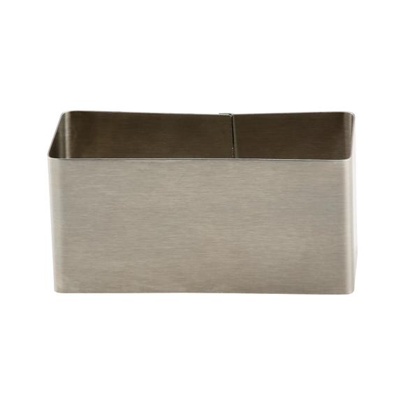 Achat en ligne Cadre à pâtisserie rectangulaire en inox 3,9x9,1cm