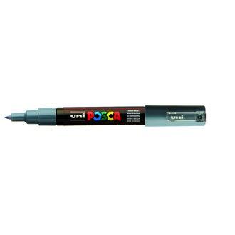 POSCA - Marqueur à pointe ultra fine gris foncé 0,7 mm