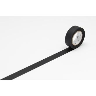 Indispensables - masking tape uni noir mat 15mmx10m