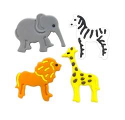 Achat en ligne Décors en sucre 4 animaux jungle 12g