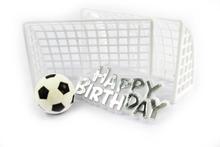 Achat en ligne Décor gateau anniversaire ballon foot et but