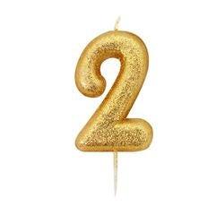 acquista online Candela compleanno numero 2 oro