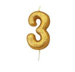 acquista online Candela compleanno numero 3 oro