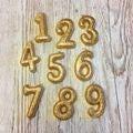 Candela compleanno numero 6 oro