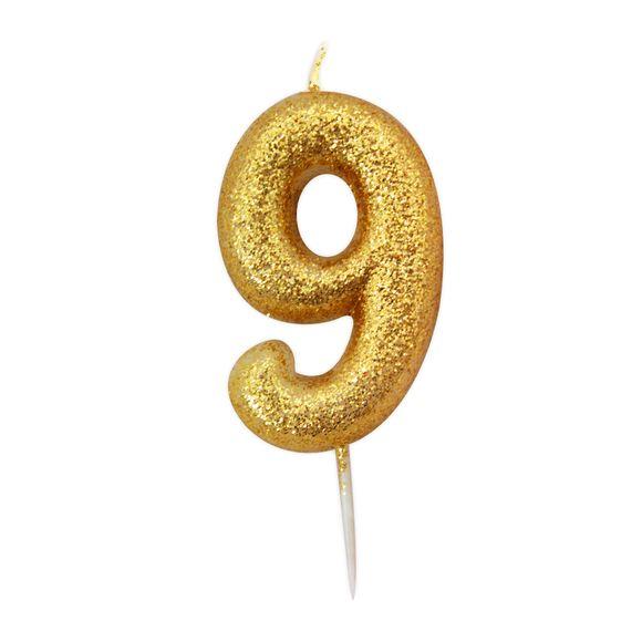 acquista online Candela compleanno numero 9 oro