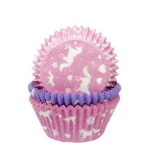 Achat en ligne Caissettes à cupcakes licorne rose et mauve en papier
