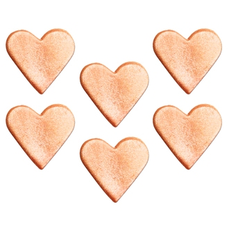 Décor en sucre cœur rose irisé