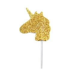Achat en ligne Décor à piquer licorne dorée