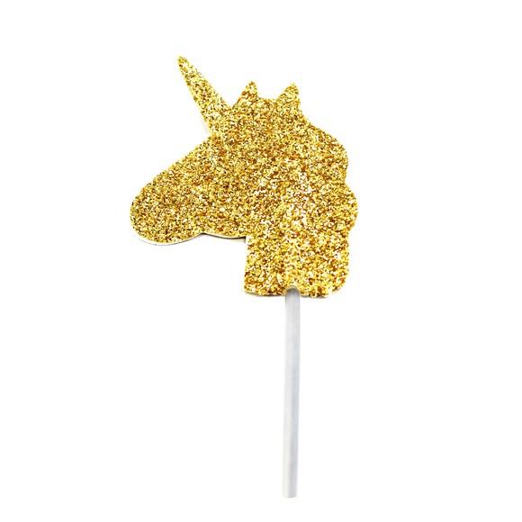 Décor à piquer licorne dorée