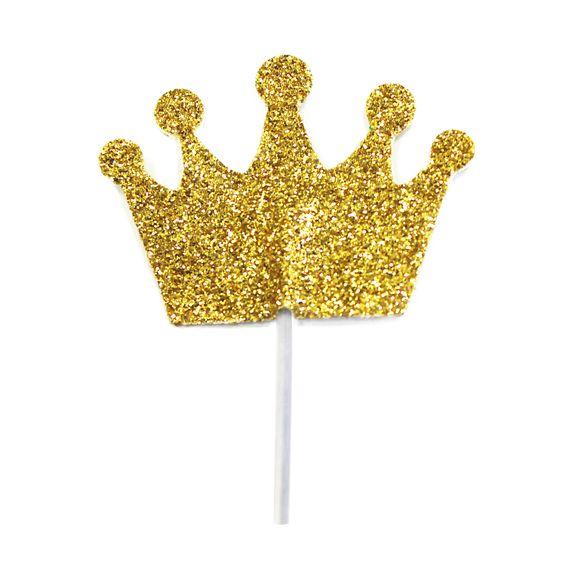 Décors à piquer 12 couronnes dorées