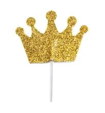 Achat en ligne Décors à piquer 12 couronnes dorées