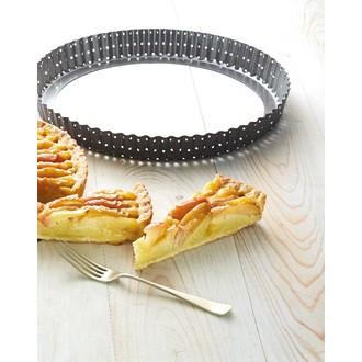 Moule à tarte perforé revêtu Crousty 28 cm