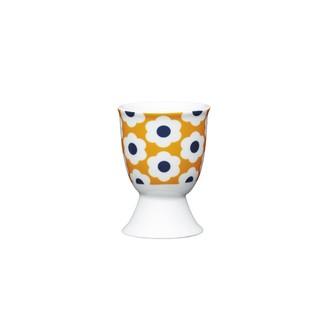 Coquetier en porcelaine, motifs fleurs et pois rétro, 4cm