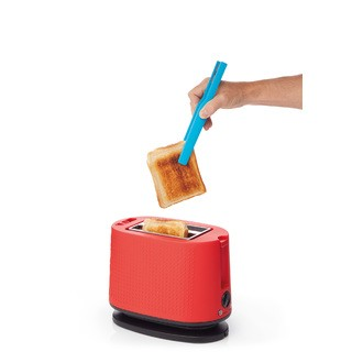 Pince à toast silicone 23 cm coloris assorti