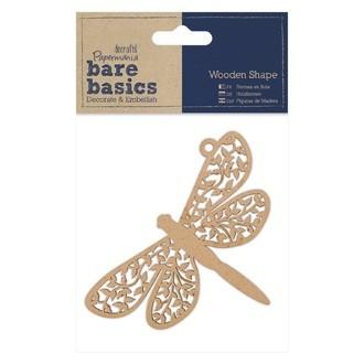 Docrafts - libellule en bois à décorer 11x7cm
