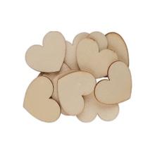 Achat en ligne Set de 12 cœurs en bois