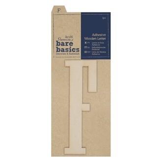 DOCRAFTS - Lettre F à décorer en bois adhésif 10cm