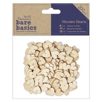 Docrafts - lot de 200 cœurs en bois à décorer