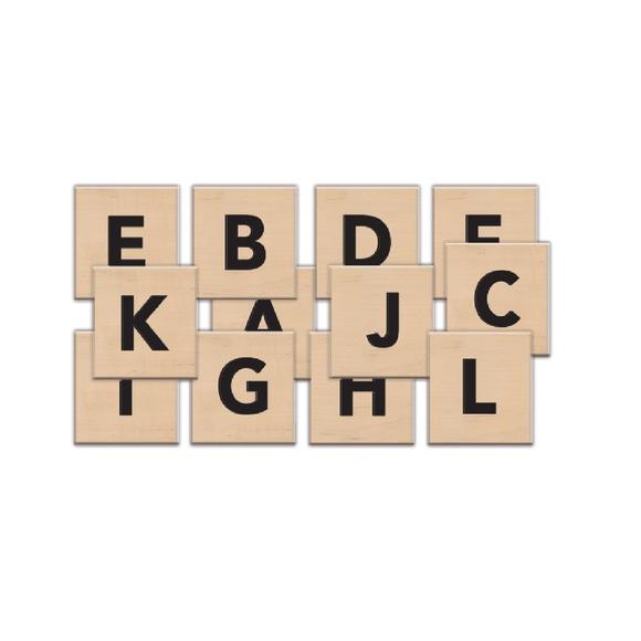 Achat en ligne Grands carrés de lettres bois