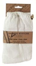 Achat en ligne Turban de sauna en bambou et coton blanc