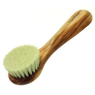 Brosse exfoliante pour visage en bois d'olivier