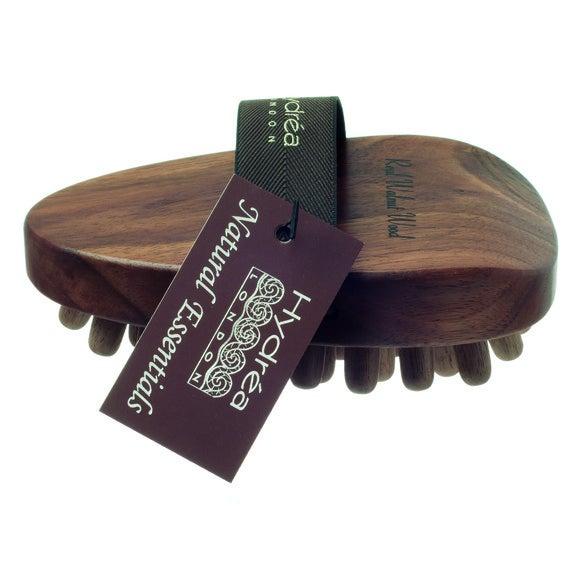 Brosse de massage anti-capiton en bois noyer