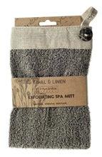 Achat en ligne Gant de gommage exfoliant en lin et sisal écru et noir