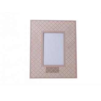 Cadre photo à poser 10x15 métal ajouré rose