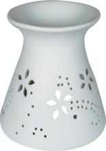 Achat en ligne Brûle-parfum rond avec des fleurs