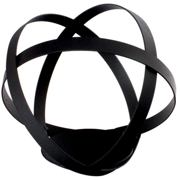 Achat en ligne Support bougie boule noir métal 12,5cm