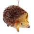 Hérisson en paille marron et beige 9x6x6 cm