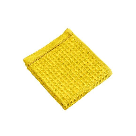 Serviette invité 30x50cm en coton nid d'abeille moutarde