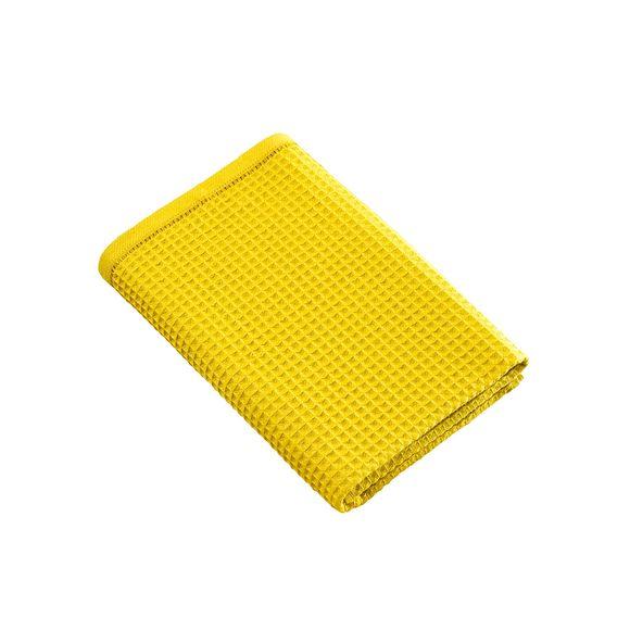 Asciugamano doccia a nido d'ape in cotone giallo 70x140cm