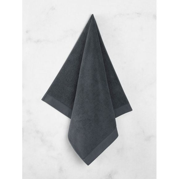 Asciugamano doccia in spugna di cotone grigio 70x140cm