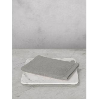 Gant de toilette en coton éponge cendre