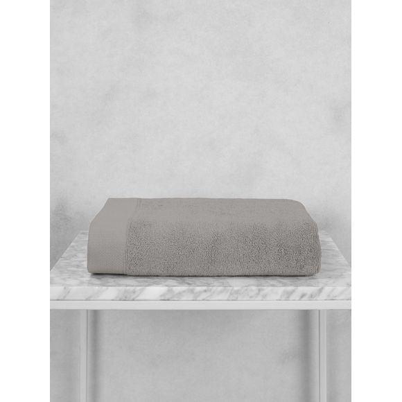 Asciugamano in cotone grigio 50x100cm