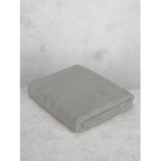 Serviette de bain 100x150cm en coton éponge cendre