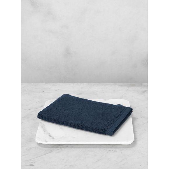 Guanto da bagno in cotone blu