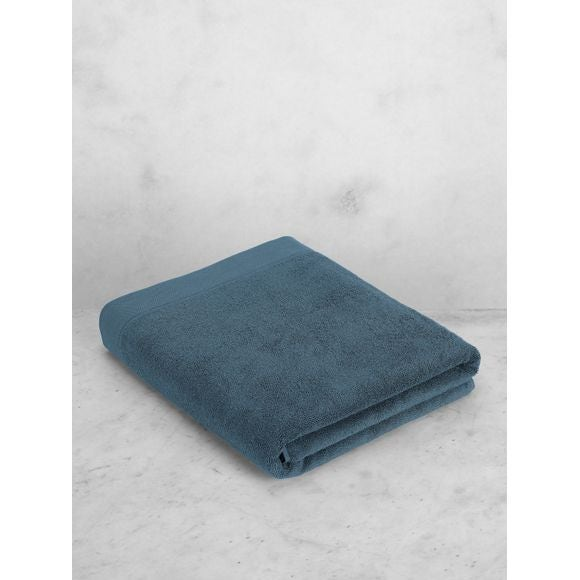 Asciugamano bagno in cotone blu grigio 100x150cm