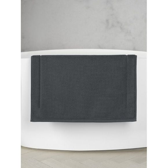 Tappeto da bagno quadrato in spugna di cotone grigio 60x60cm