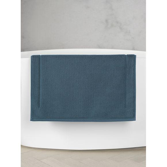 Tappeto da bagno quadrato in spugna di cotone blu 60x60