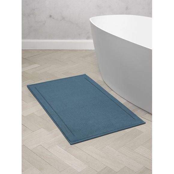 Tapis de bain en éponge bleu 60x100cm 1300g/m²