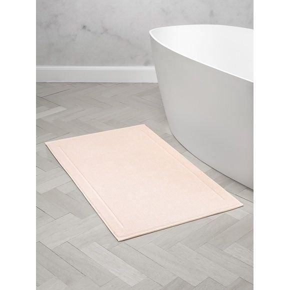 Tappeto da bagno rettangolare in spugna di cotone rosa 60x100