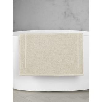 Maom - tapis de bain en éponge beige clair 60x60cm 1300g/m²