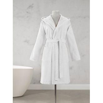 fc02e2c75d79c6 MAOM - Peignoir femme en coton éponge blanc Taille L