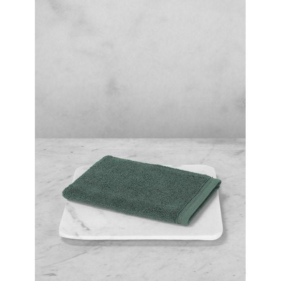 maom gant de toilette en coton ponge vert royal pas cher z dio. Black Bedroom Furniture Sets. Home Design Ideas