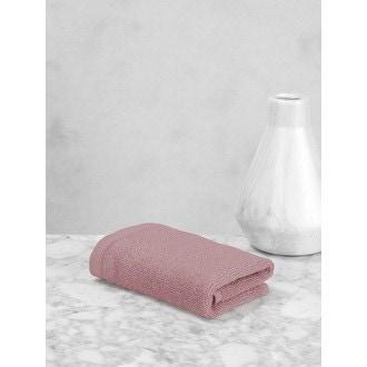 MAOM - Serviette invité en coton éponge bouton de rose 30x30cm