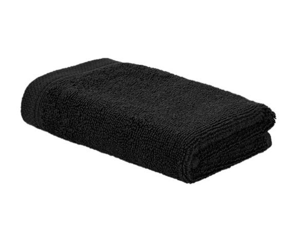 Achat en ligne Serviette invité 30x50cm en coton noir